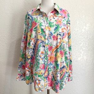 Ralph Lauren Slim Fit Button Down Floral Shirt